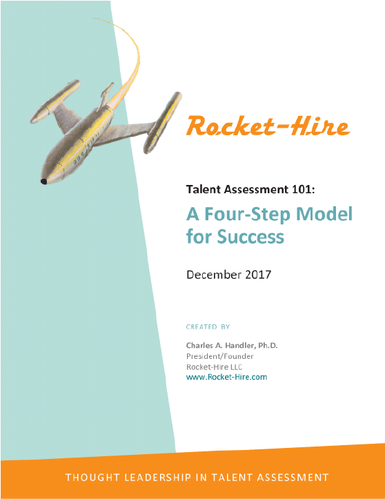 Rocket- Hire Talent Assessment 101: A Four-Step Model for Success - December 2017